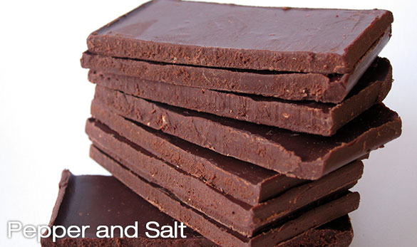 Chocolate 70% with pepper and 'fleur de sel' - 160g
