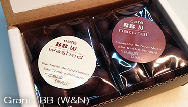 Arabica coffee beans, variety Bourbon (BB), W & N roasted and covered with 55% chocolate - 160g